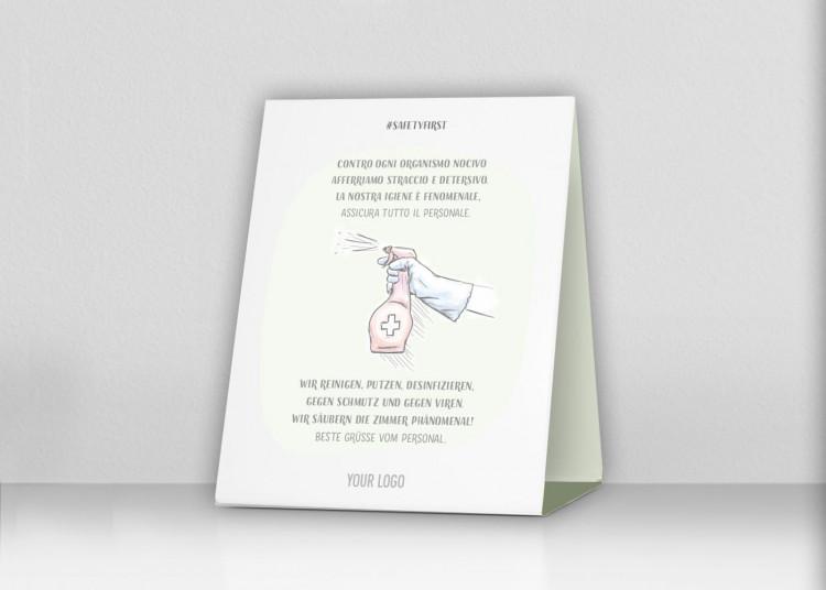 Espositore da banco 20 x 15 cm | Disegno - Hotelroom (it/de)