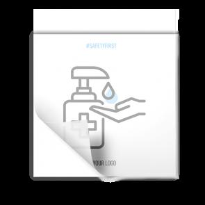 Adesivo 15 x 15 cm | Icon - Disinfettare