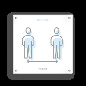 Insegna 15 x 15 cm | Icon - Distanza
