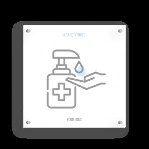 Insegna 15 x 15 cm | Icon - Disinfettare