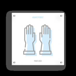 Insegna 15 x 15 cm | Icon - Guanti