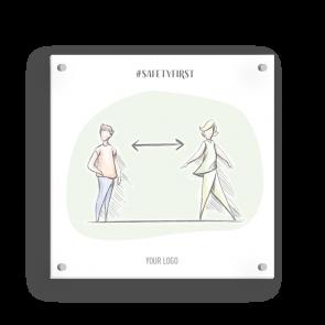Insegna 15 x 15 cm | Disegno - Distanza