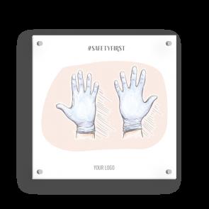 Insegna 15 x 15 cm | Disegno - Guanti