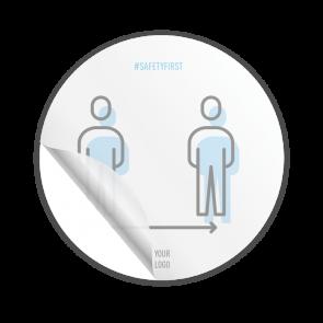 Adesivo Ø 15 cm | Icon - Distanza