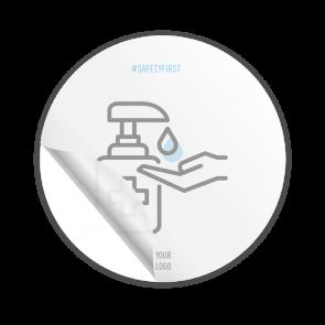 Adesivo Ø 15 cm | Icon - Disinfettare