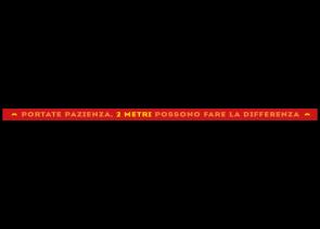 Adesivo per pavimenti 150 x 5 cm | Typo »Portate pazienza, 2 metri possono fare la differenza«