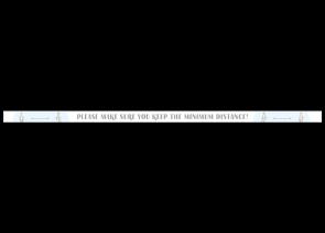 Adesivo per pavimenti 150 x 5 cm | Disegno »Please make sure you keep the minimum distance«