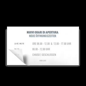 Adesivo 21 x 11 cm | Icon - Orario di apertura (de/it)