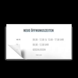 Adesivo 21 x 11 cm | Icon - Orario di apertura (de)