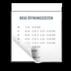 Adesivo 15 x 15 cm | Icon - Orario di apertura (de)