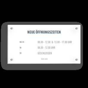 Insegna 21 x 11 cm | Icon - Orario di apertura (de)
