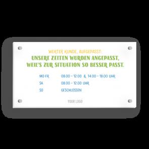 Insegna 21 x 11 cm | Typo - Orario di apertura (de)