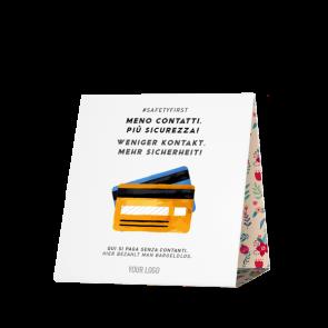 Espositore da banco 15 x 15 cm | Fiore - Cashless (de/it)