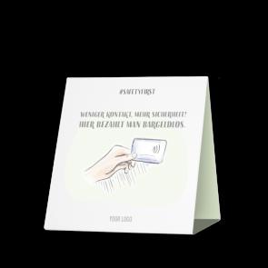 Espositore da banco 15 x 15 cm | Disegno - Cashless (de)