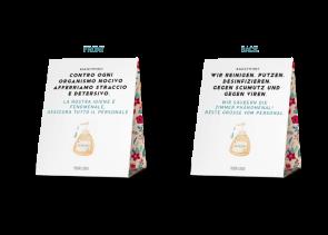 Espositore da banco 20 x 25 cm | Fiore - Pulizia camera anti virus (de/it)