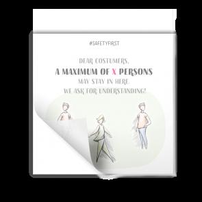 Adesivo 15 x 15 | Disegno - Numero max. di persone (en)
