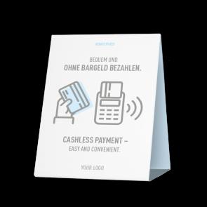 Espositore da banco 20 x 15 cm | Icon - Cashless (de/en)