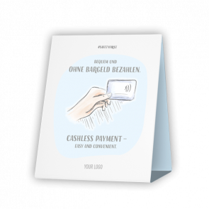 Espositore da banco 20 x 15 cm | Disegno - Cashless (de/en)