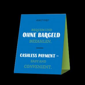 Espositore da banco 20 x 15 cm | Typo - Cashless (de/en)